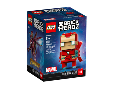 Купить Лего 41604 Железный человек, Brick Headz.