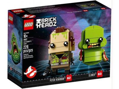Купить Лего 41622 Питер Венкман и Слимер, Brick Headz.