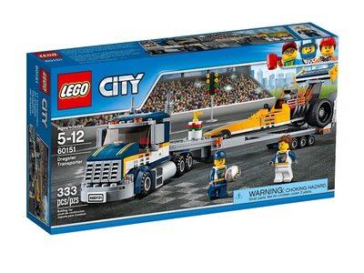 Купить Лего Сити 60151 Грузовик для перевозки драгстера LEGO CITY.