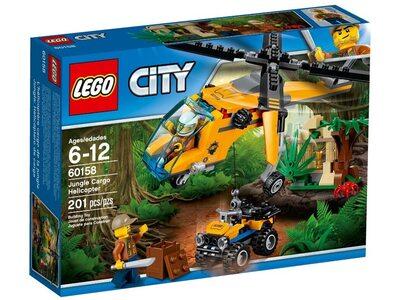 Купить Лего Сити 60158 Джунгли: Грузовой вертолёт, LEGO City.