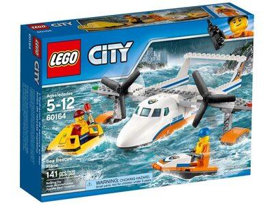 Купить Лего Сити 60164 Береговая охрана: Самолёт спасателей, LEGO City.