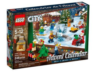 Купить Лего 60155 Новогодний календарь 2018 Сити.