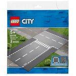 Купить Лего 60236 Прямой и Т-образный перекрёсток серии Сити.