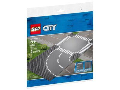 Купить Лего 60237 Поворот и перекрёсток серии Сити.
