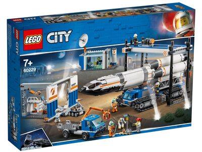 Купити Лего 60229 Майданчик для складання і транспорт для перевезення ракети серії Сіті Космопорт.