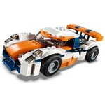 Купить Лего 31089 Оранжевый гоночный автомобиль серии Криейтор.