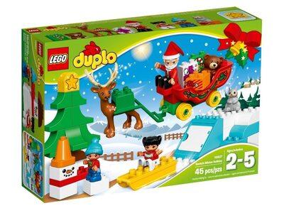 Купить Лего 10837 Зимний отдых Санта-Клауса, LEGO Duplo.