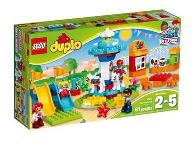 Купить Лего 10841 Семейный парк аттракционов, LEGO DUPLO.