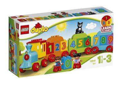 Купить Лего 10847 Поезд Считай и играй, LEGO DUPLO.