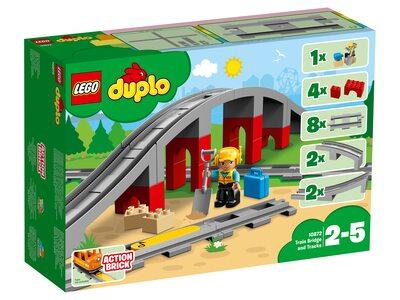 Купить Лего 10872 Железнодорожный мост, LEGO Duplo.