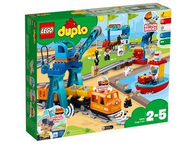 Купить Лего 10875 Грузовой поезд, LEGO Duplo.
