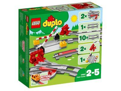 Купить Лего 10882 рельсы, LEGO Duplo.
