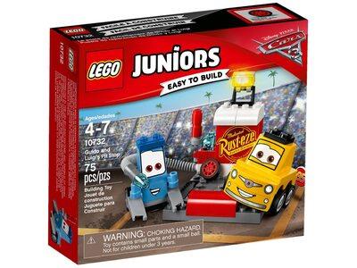 Купить Лего Джуниорс 10732 Пит-стоп Гвидо и Луиджи, LEGO Juniors.