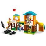 Купить Лего 10768 Приключения Базза и Бо Пип на детской площадке серии Джуниорс.
