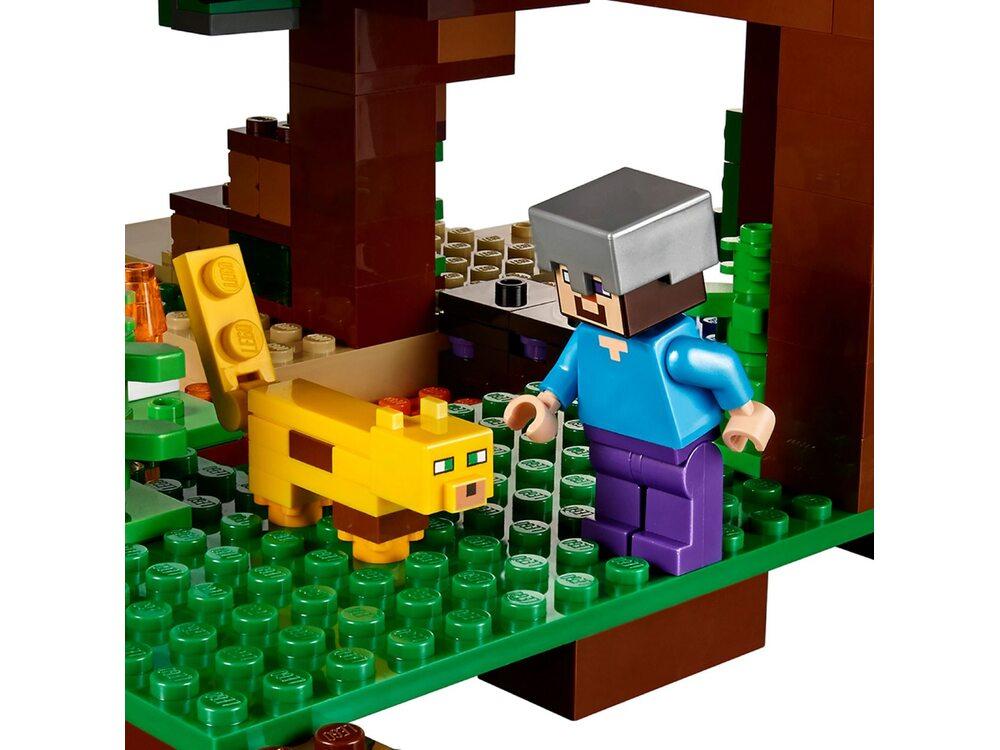Лего майнкрафт домик на дереве в джунглях купить