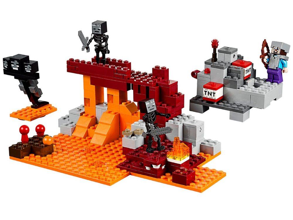 Набор лего майнкрафт адская крепость