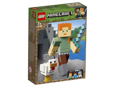 Купить Лего 21149 Алекс с цыпленком серии Майнкрафт.