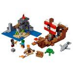 Купить Лего 21152 Приключения на пиратском корабле серии Майнкрафт.