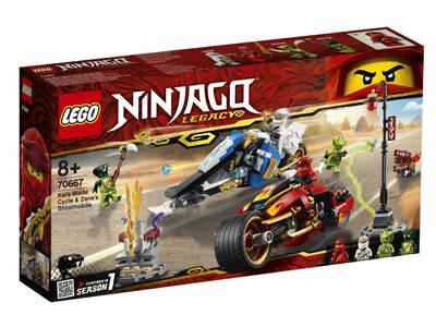Купить Лего 70667 Мотоцикл Кая и снегомобиль Зейна серии Ниндзяго.