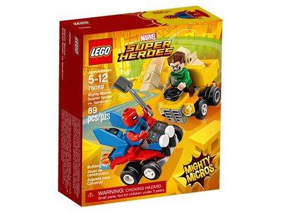 Купить Лего 76089 Человек-паук против Песочного человека, LEGO Super Heroes.