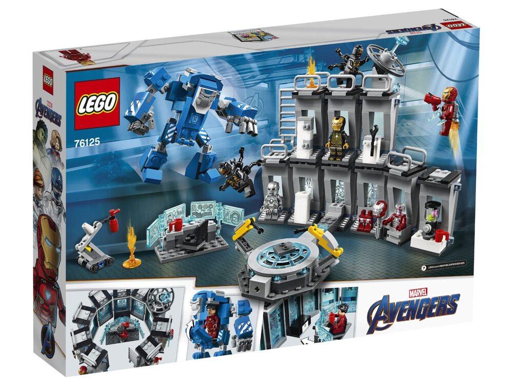 Конструктор lego super heroes лаборатория железного человека 76125