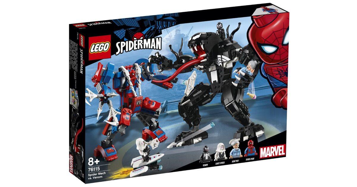 Lego человек паук против венома