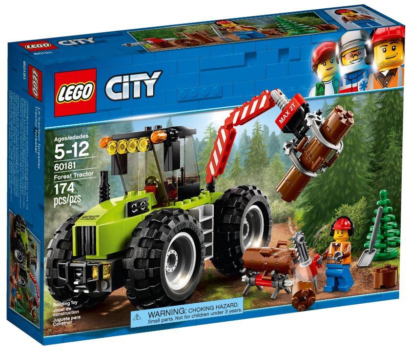 Детский конструктор LEGO Лесоповальный трактор (60181)