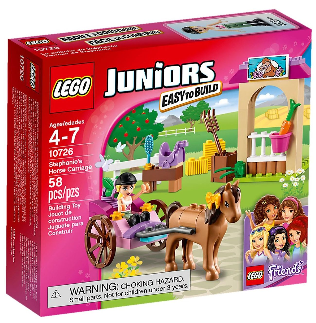 Детский конструктор LEGO Лошадь и карета Стефани (10726)